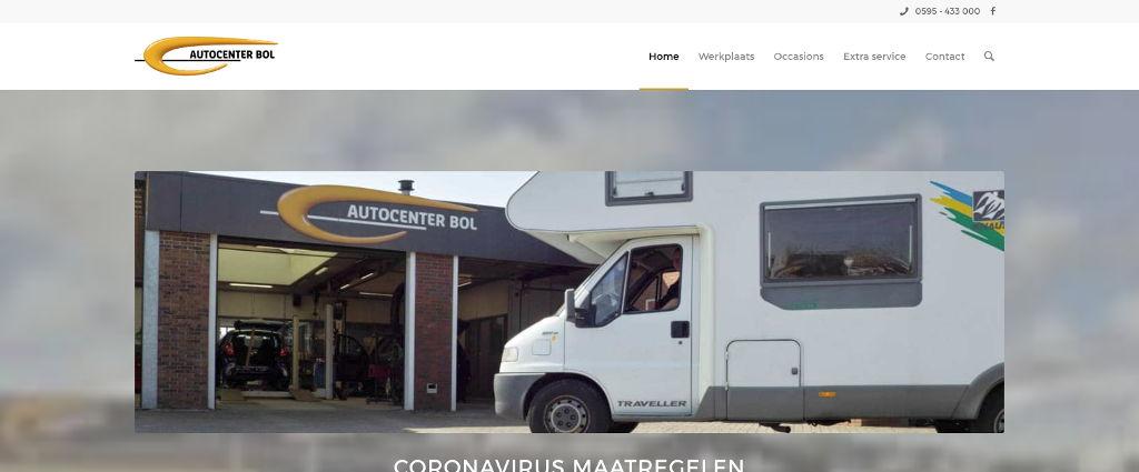 Autocenter Bol website